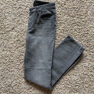Seven 7 Size 4 Gray Straight Skinny Jeans